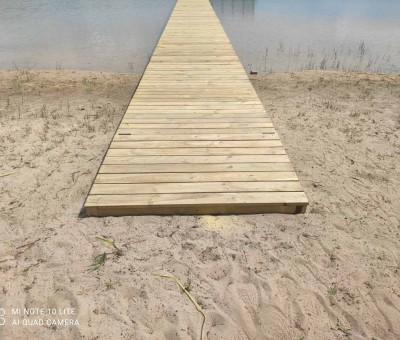 Liepto statyba prie Lavyso ežero
