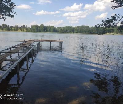Liepto statyba prie Margio ežero Trakų raj.